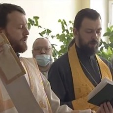 Первый молебен в областной туберкулезной больнице Сукманиха