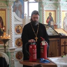 Беседа о правилах поведения при ЧС в Сергиевском храме Трубино